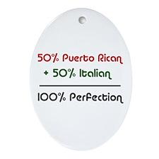 Italian & Puerto Rican Oval Ornament
