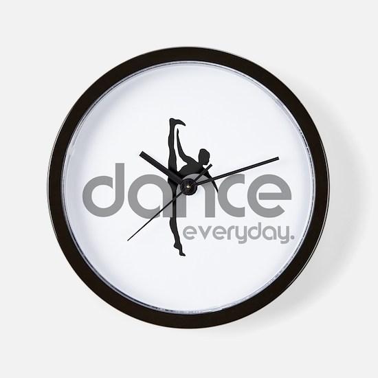 dance everyday Wall Clock