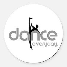 dance everyday Round Car Magnet