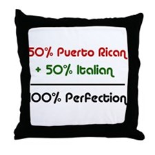 Italian & Puerto Rican Throw Pillow