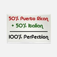 Italian & Puerto Rican Rectangle Magnet