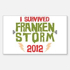 I Survived Frankenstorm Sticker (Rectangle)