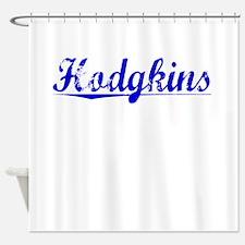 Hodgkins, Blue, Aged Shower Curtain