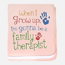 Future Family Therapist baby blanket