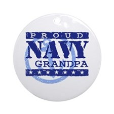 Proud Navy Grandpa Ornament (Round)