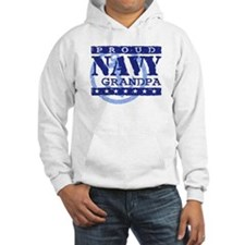 Proud Navy Grandpa Jumper Hoody