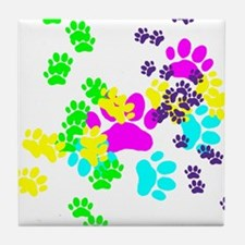 Pawprints Tile Coaster