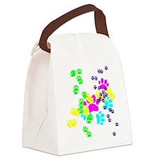 Pawprints Canvas Lunch Bag