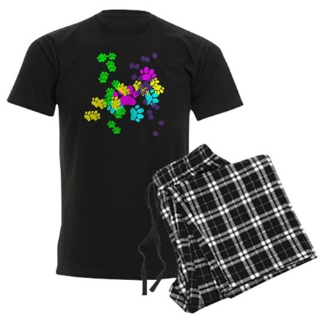 Pawprints Men's Dark Pajamas