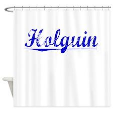 Holguin, Blue, Aged Shower Curtain