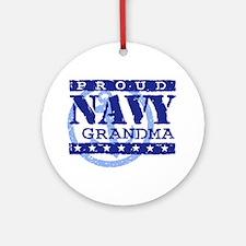 Proud Navy Grandma Ornament (Round)