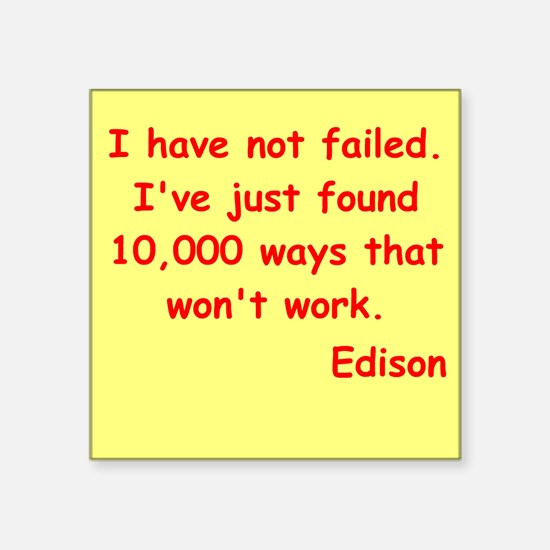 "edison6.jpg Square Sticker 3"" x 3"""