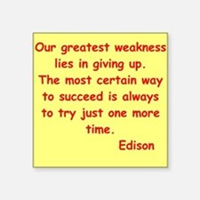 "edison12.jpg Square Sticker 3"" x 3"""