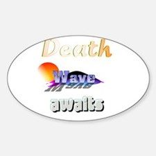 Deathwave Oval Decal