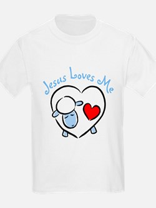 Jesus Loves Me - Blue Lamb Women's Pink T-Shirt T-