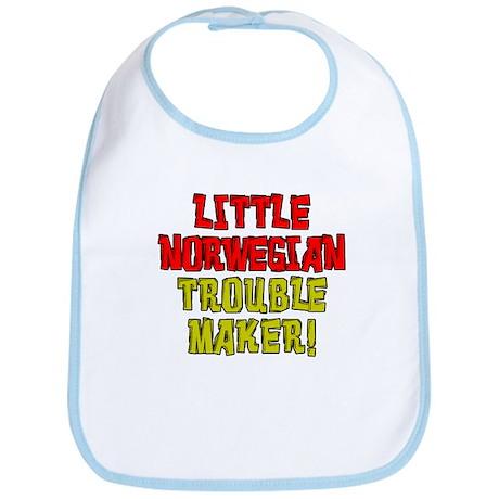 Little Norwegian Trouble Maker Bib
