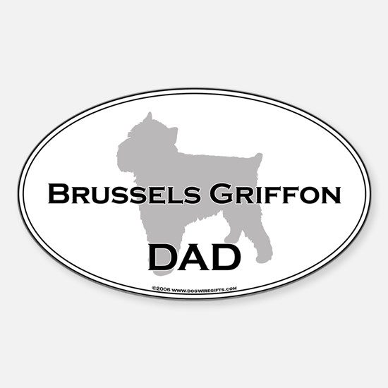 Brussels Griffon DAD Oval Decal