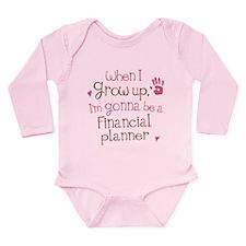Future Financial Planner Long Sleeve Infant Bodysu