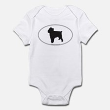 Brussels Griffon Silhouette Infant Creeper