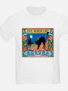 Black Cat Oranges Kids T-Shirt
