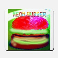 neon burger Mousepad