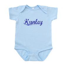 Hunley, Blue, Aged Infant Bodysuit
