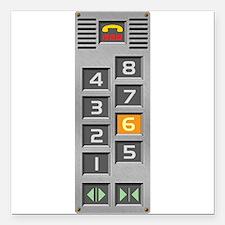 "elevator Square Car Magnet 3"" x 3"""