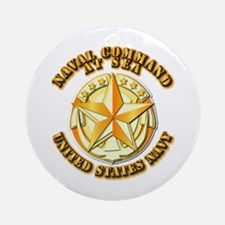 Navy - Command At Sea Ornament (Round)