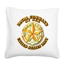 Navy - Command At Sea Square Canvas Pillow