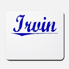 Irvin, Blue, Aged Mousepad