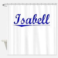 Isabell, Blue, Aged Shower Curtain