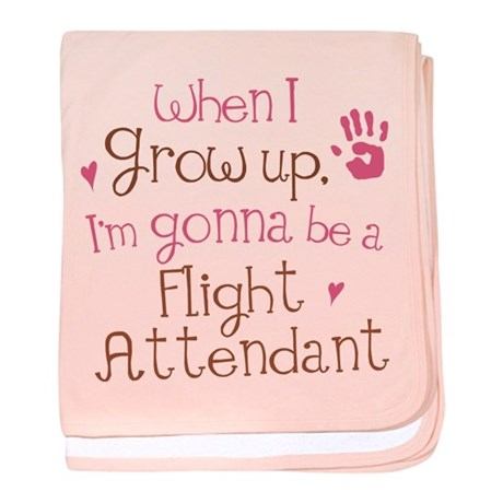 Future Flight Attendant baby blanket