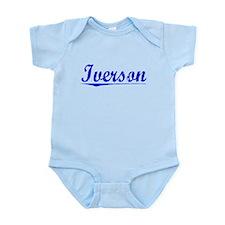 Iverson, Blue, Aged Infant Bodysuit