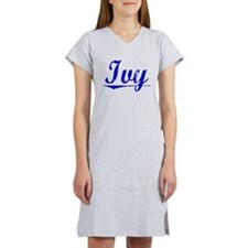 Ivy, Blue, Aged Women's Nightshirt