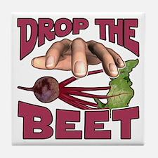 Drop the Beet Tile Coaster