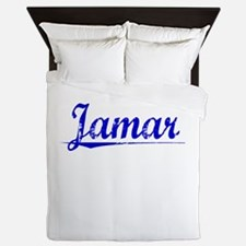 Jamar, Blue, Aged Queen Duvet