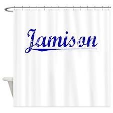 Jamison, Blue, Aged Shower Curtain