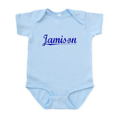 Jamison, Blue, Aged Infant Bodysuit