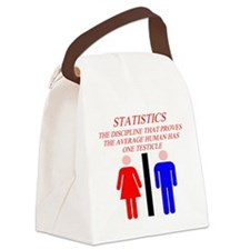 funny statistics gifts t-shirts Canvas Lunch Bag