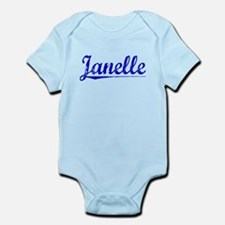 Janelle, Blue, Aged Onesie