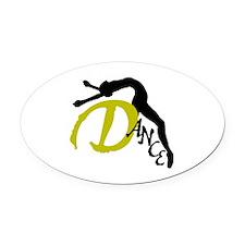 Dance Arch Oval Car Magnet