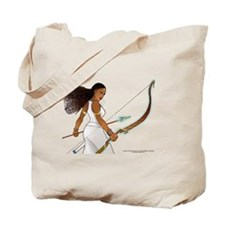 Nuhamin with Bow Arrow - white background Tote Bag
