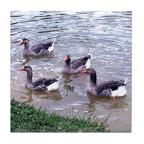 4 Geese Tile Coaster