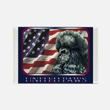 Poodle United Paws Flag Rectangle Magnet