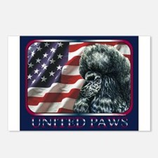 Poodle United Paws Flag Postcards (Package of 8)