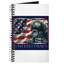 Poodle United Paws Flag Journal