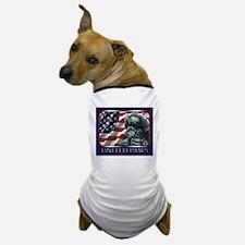Poodle United Paws Flag Dog T-Shirt