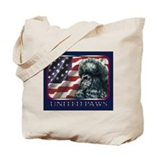Poodle United Paws Flag Tote Bag