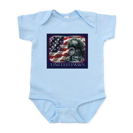 Poodle United Paws Flag Infant Creeper