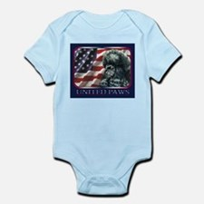 Poodle United Paws Flag Infant Creeper